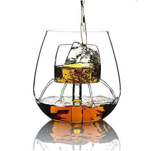 ZYGF Decantador De Whisky, Jarra Y Vasos De Whisky 520Ml con 8 Orificios, Decantador De Vasos De Whisky Vidrio Multifunción De Borosilicato Alto para Licor, Vodka, Vino O Ginebra