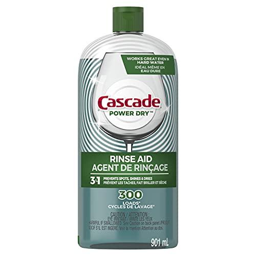 Cascade Rinse Aid Platinum, Dishwasher Rinse Agent, Regular Scent, 30.5 oz