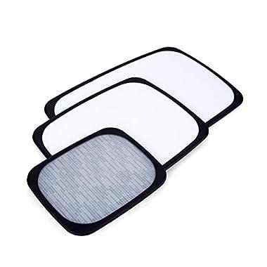 Sabatier 5172588 3-Piece All-Purpose Non-Slip Plastic Cutting Board Set, Assorted Sizes, White/Black