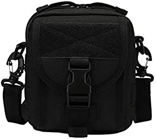 TOOGOO Molle Messenger Camouflage Crossbody Bag Nylon Single Shoulder Chest Pack Sling Bags for Hiking and Traveling Mud Color