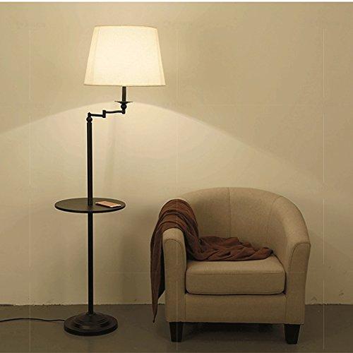 Protection des yeux pour Moderne Simple Vertical table basse canapé lampadaire/Américain rural LED chambre chevet Iron art Luminaire/noir Décoration d'intérieur AA+