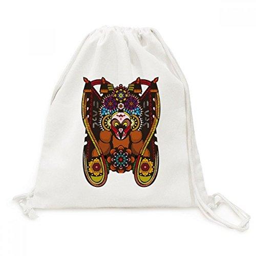DIYthinker Herren China Chinese Peking Peking Muster-Segeltuch-Rucksack-Reise Einkaufstaschen Einheitgrosse Mehrfarbig