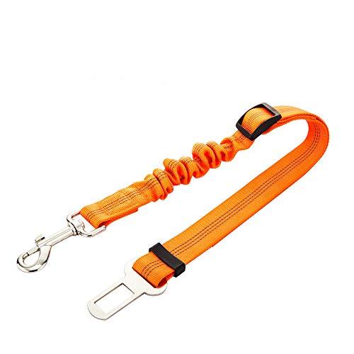 Yowablo Hundegurt Verstellbarer Sicherheitsgurt für Welpenautos Reflektierender Sicherheitsgurt (53-74cm,Orange)