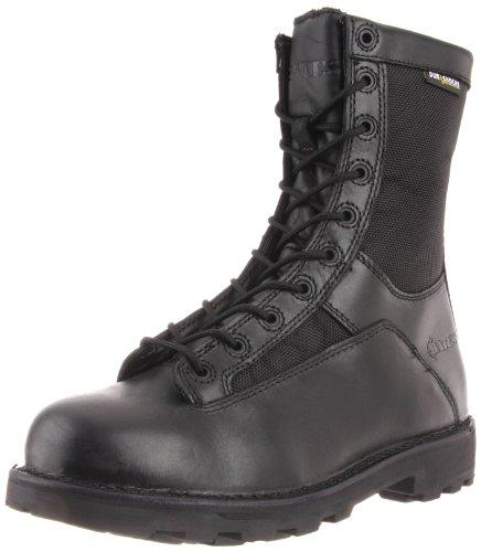 "Bates Men's 8"" DuraShock Lace-to-Toe Side Zip Work Boot, Black, 12 M US"