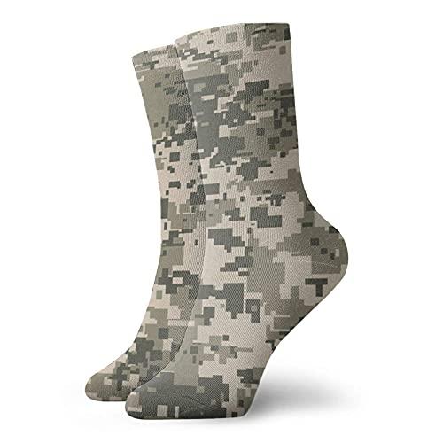 AOOEDM Gris Camo Camuflaje Ejército Patrón Calcetines cortos unisex Calcetines que absorben la humedad Calcetines casuales personalizados Funky divertidos La mejor opción para colocación de ropa y reg
