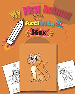My First Animal Activity Book: Activity Picture Book For Kids | Letter crossword game puzzle and sudoku for children | col...