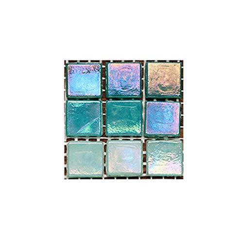 GYCOZ Decoración hogareña Etiqueta de la Pared Autoadhesivo Mosaico Etiqueta de la Pared Principal Baño Cocina Decoración 10pcs Adhesivo de azulejo 3D Impermeable # 1 (Color : MSC052, Size : 10x10cm)