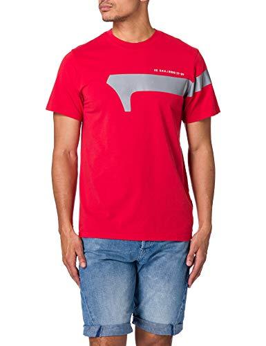 G-STAR RAW 1 Reflective Graphic T-Shirt, Dark Candy 336-c235, M Uomo