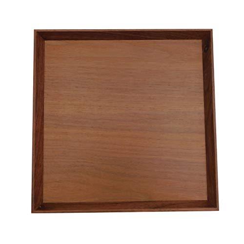 高級木製お盆 トレー ウォールナット 正方形 おしゃれ おうちカフェ おぼん