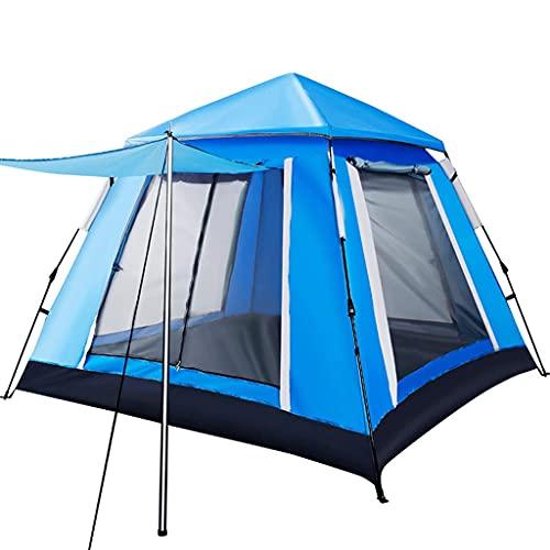 DTDD Tienda 3-4 Personas Familia Camping Tipi Al Aire Libre Resistente a la Lluvia Impermeable Adecuado para Acampar Senderismo Vacaciones