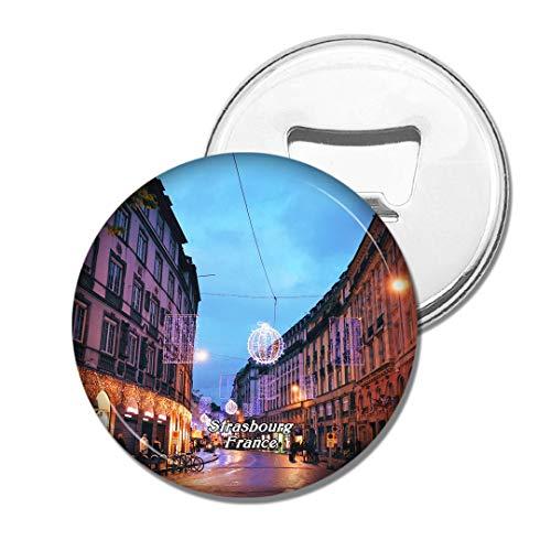 Weekino Frankreich Place Kleber Strasbourg Bier Flaschenöffner Kühlschrank Magnet Metall Souvenir Reise Gift