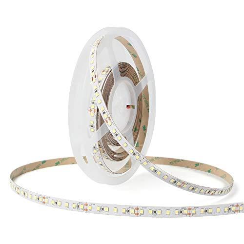 NUOVA GERMANY Tira LED 5M SMD2835 120 LED/m, 24 V, luz blanca fría/natural/cálida, regulable de alta luminosidad, 3000 K-4000 K-6000 K, cinta luminosa, decoración interior IP20 (luz cálida 3000 K)