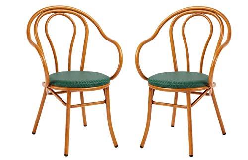 2 chaises – Poids : 3,6 kg – 56 x 54 x 90 cm – Revêtement en tissu – Siège rembourré – Cadre en aluminium – Résistant – Facile à nettoyer – Robuste, empilable, fabriqué en Italie.