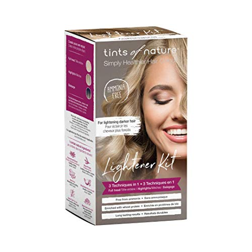 Tints of Nature 3 in 1 Lightener Kit | A Natural, Healthier Way For Home Hair Highlights and Brightening | Vegan-Friendly and Cruelty-Free Permanent and Semi-Permanent Hair Dye Brightening Kit