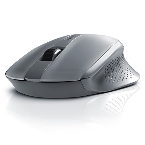 CSL - Bluetooth Maus kabellose optische Notebook Maus - High Precision - reaktionsschnell - Advanced Power Management System - ergonomisches Design - grau
