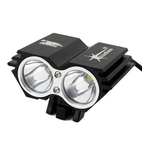 Solarstorm X2 5000Lm 2x CREE XML U2 LED Cycling Front Bicycle Bike Light HeadLight Headlamp
