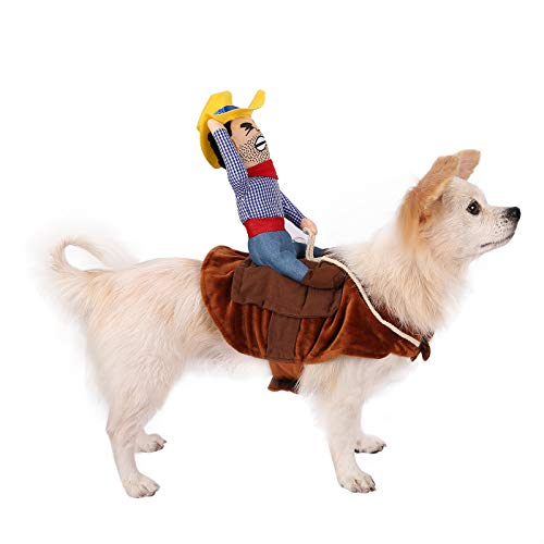 HDE Dog Costumes for Small Dogs Halloween Dog Costume Puppy Clothes Outfits (Cowboy)