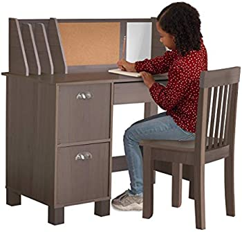 KidKraft Wooden Study Desk with Chair & Bulletin Board (Grey)