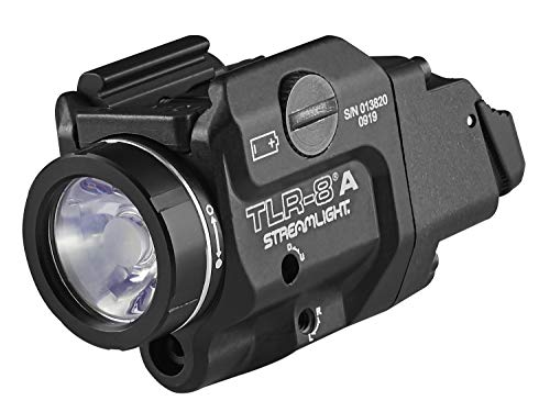 Streamlight 69414 TLR-8A Flex Low-Profile Rail-Mounted Tactical Light, Black/Red Laser