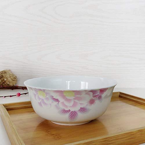 Porzellanschale Nudelschale Kreative Knochen Porzellanschale Haushaltsreisschale Obstsalatschale Dessertschale Suppenschüssel Nudelschale