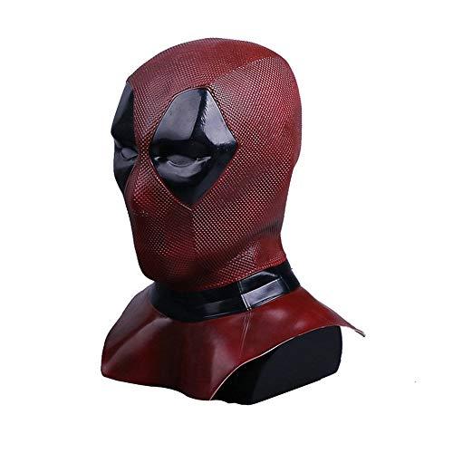 DP2 Wade Mask Cosplay Helmet Full Head Latex Flexible Helmet Halloween Costume Prop Fancy Ball Soft Mask