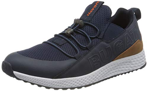 bugatti Herren 3415176B5900 Slip On Sneaker, Blau, 41 EU