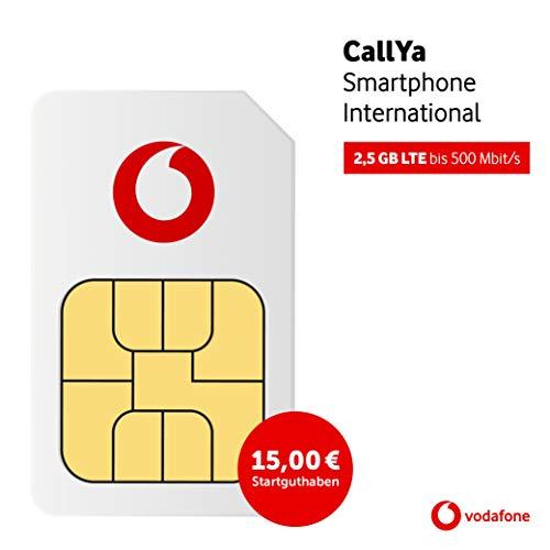 Vodafone Callya Smartphone International inkl. 15 Euro Startguthaben Prepaid SIM Karte ohne Vertrag im D2-Netz