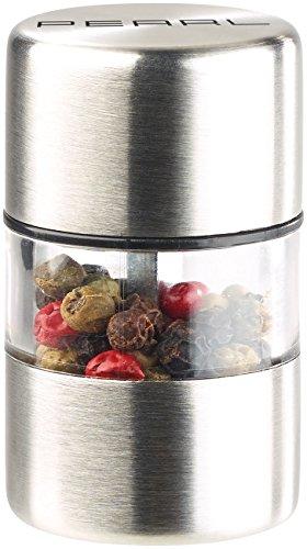 PEARL Salzstreuer: Mini-Salz-/Pfeffermühle, Edelstahl, Keramikmahlwerk, Ø 3 cm (Pfefferstreuer)