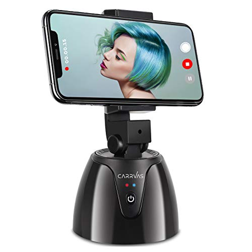 CARRVAS Selfie Stick 360° Drehung Auto Face Object Tracking Stativ Gimbal Stabilisator Roboter Kameramann Smart Shooting Telefonhalter Kamerahalterung für Alle Handys
