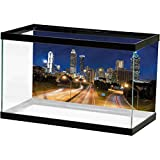 bybyhome Urban Aquarium Wallpaper Background Atlanta Skyline Twilight Fish Tank Decorative Pictures L24 X H12 Inch