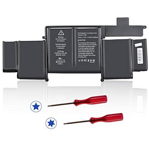 HUSAN A1582 Ersatz-Akku für MacBook Pro 13 Zoll Retina A1502 (2015 Version) ME864 ME865 [6559 mAh, 74,9 Wh/11,4 V]