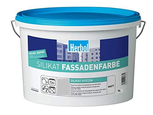 Herbol Silikat Fassadenfarbe Matt, Basis DU 1, 5L