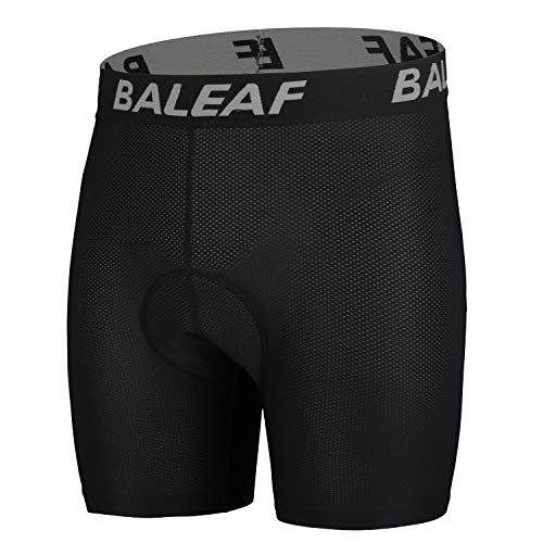 BALEAF Men's 3D Padded Cycling Mesh Breathable Underwear Shorts Tights Gray Size M