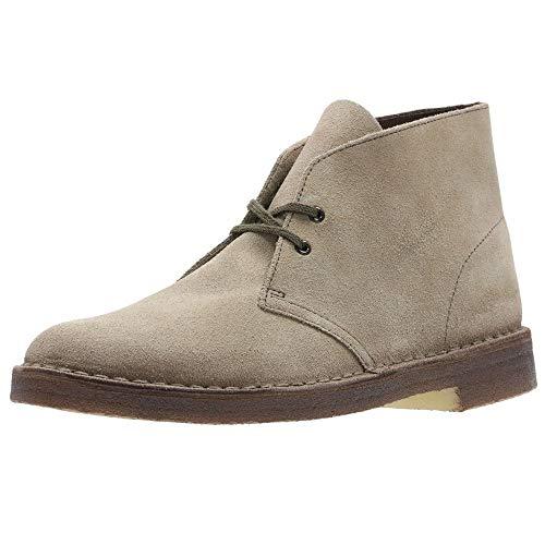 Clarks Desert Mens Boots 45.5 EU Wolf Suede
