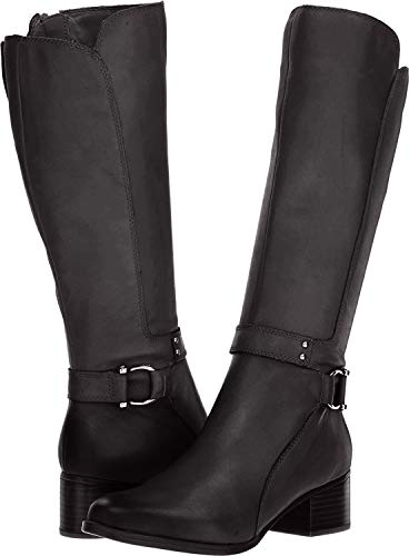Naturalizer Womens Dane Leather Closed Toe Knee High, Black Leather, Size 9.0