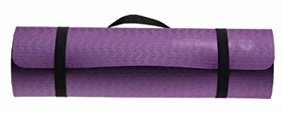 Harbinger Recyclable Foam Eco Fit Exercise Mat 3/8-Inch, Purple