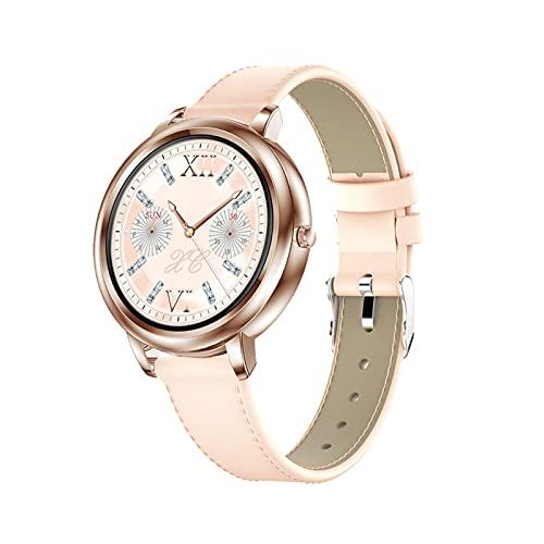 PYAIXF Reloj Inteligente, Tocar Rastreador De Fitness Impermeable Rastreador De Actividad Seguimiento del Sueño Y La Natación por Mujer Hombre-Gold
