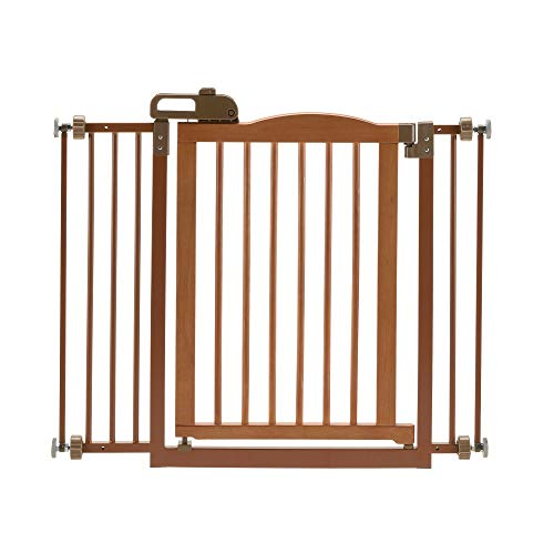 Richell One-Touch Pet Gate II, Brown, Fits...