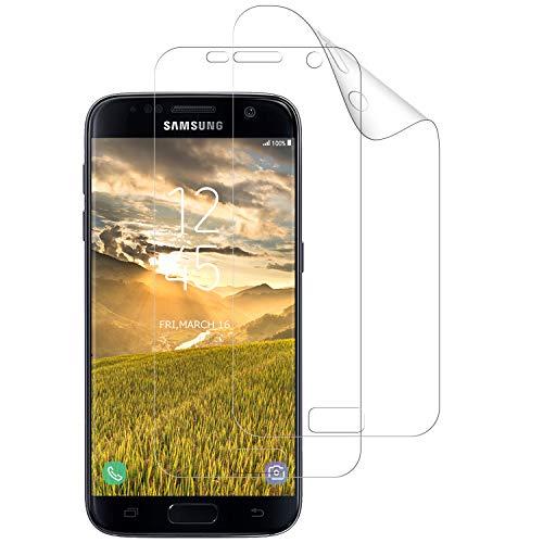 DASFOND [2 Stück] Schutzfolie für Galaxy S7 Edge, TPU Displayschutzfolie für Samsung S7 Edge, Vollständige Abdeckung, Fingerabdruck kompatibel, Kratzfest, Blasenfreie, Klar HD Weich TPU Folie