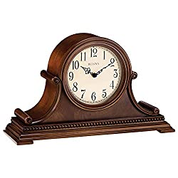 Bulova B1514 Asheville Mantel Clock, Brown Cherry
