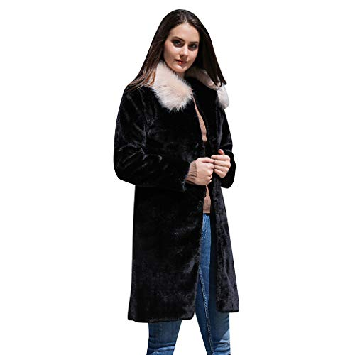 Fenverk Damen Herbst Winter Outing Stil Frauen Warm Öffnen Clubbing Dating Elegante Hoodies Sweatshirt Langen Mantel Jacke Tops Outwear Hoodie Outwear Kapuzenpullover S-4XL(Schwarz,XXXXL)