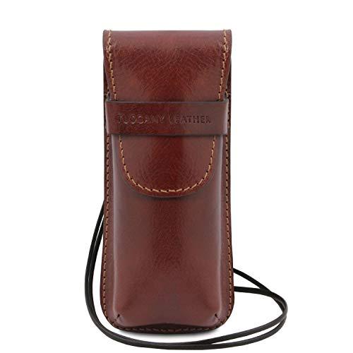 Tuscany Leather Exclusif étui pour Lunettes Smartphone Porte Montres en Cuir Marron