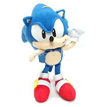 Amazon Com 7 Inch Sonic The Hedgehog Plush Doll Sonic The Hedgehog Stuffed Toy By Sega Toys Games