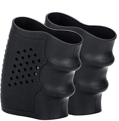 Santu Tactical Grip Glove Slip-On Ventilated Grip Sleeve - 2 Pack Black (GS1)