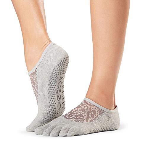 Toe Sox Damen Voller Zeh Bio-Baumwolle Luna Mesh Socken Packung mit 1 Legend Mittel
