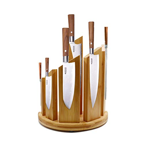 Bloc De Couteau Magnétique Support En Bambou, Pour Un Rangement Sûr, Propre Et Rangé Du Couteau Multifonctionnel Porte Couteau, Organisateur De Cuisine, (Couteaux Non Inclus)