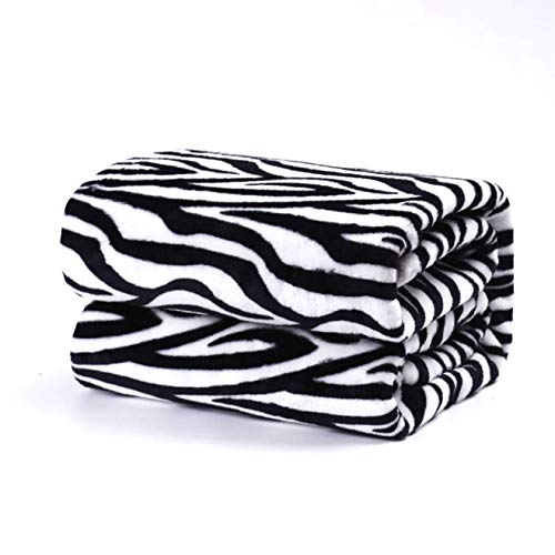 TIENDA EURASIA® Mantas para Sofá de Terciopelo - Material 100% Microfibra - Tacto Suave Sedalina (Cebra, 220 X 240 CM)