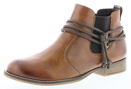 RemonteChelsea-bootie - botas estilo motero Mujer, color marrón, talla 45