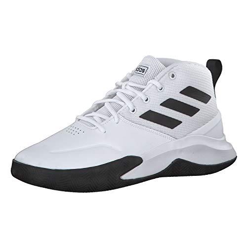Adidas Ownthegame, Zapatillas Medias Hombre, FTWBLA/NEGBÁS/FTWBLA, 47 1/3 EU