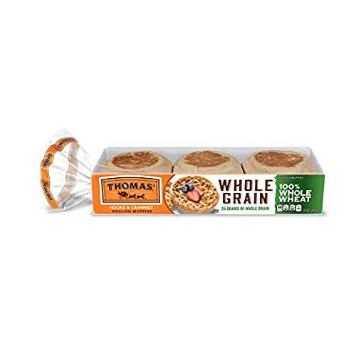 Thomas', 100% Whole Wheat English Muffins, 6 ct, 12 oz - 2 Packs